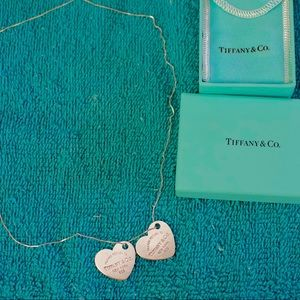 Return to Tiffany & Co Large Double Heart Necklace